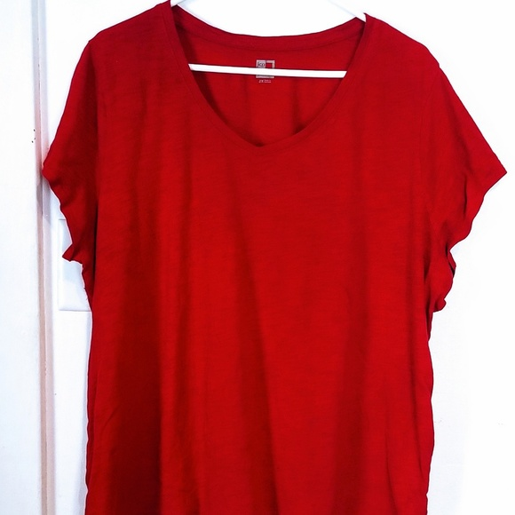 b976859628bbbb jcpenney Tops - Womens JCPenney Red SS Shirt 😍 Plus Size 2X